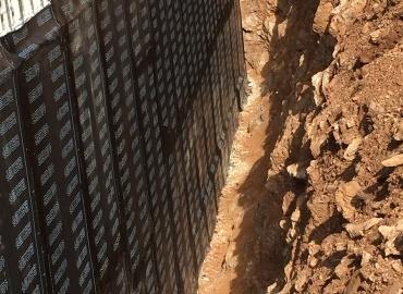 Impermehabilizacion miro vertical de vivienda unifamiliar en Ramiras